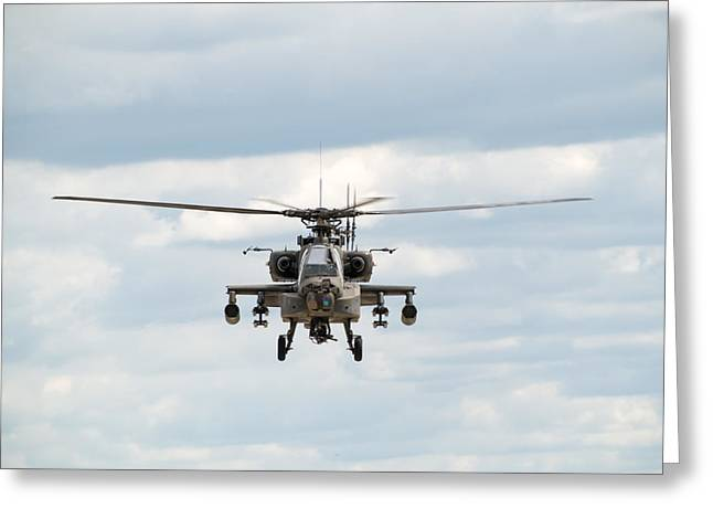 Fighter Photographs Greeting Cards - AH-64 Apache Greeting Card by Sebastian Musial