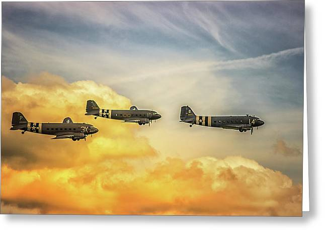 Airshow Greeting Card by Martin Newman