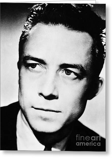 Nobel Prize Greeting Cards - Albert Camus (1913-1960) Greeting Card by Granger