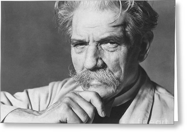 Nobel Peace Prize Greeting Cards - Albert Schweitzer Greeting Card by Granger