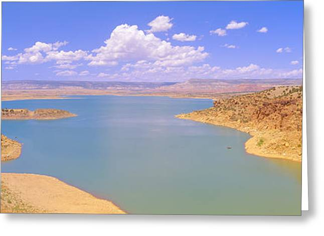 Man-made Lake Greeting Cards - Albiquiu Reservoir, Route 84, New Mexico Greeting Card by Panoramic Images