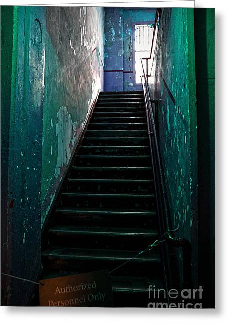 Alcatraz Greeting Cards - Alcatraz Hospital Stairs Greeting Card by RicardMN Photography