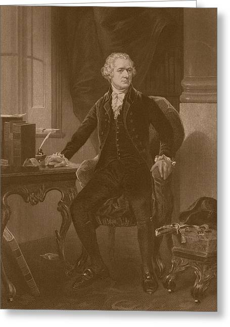 Statesman Greeting Cards - Alexander Hamilton Greeting Card by War Is Hell Store