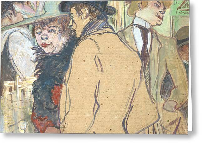 Alfred La Guigne Greeting Card by Henri de Toulouse-Lautrec