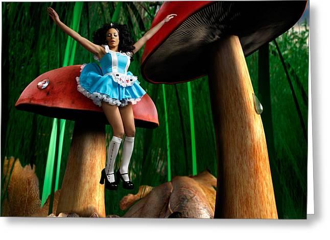 Woman In Color. Women In Color Greeting Cards - Alice in Wonderland Greeting Card by Oleksiy Maksymenko