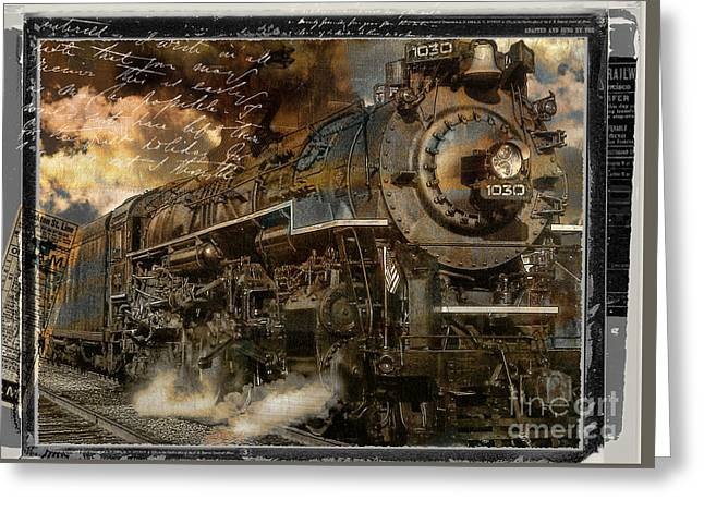 Road Travel Greeting Cards - All Aboard Greeting Card by Mindy Sommers