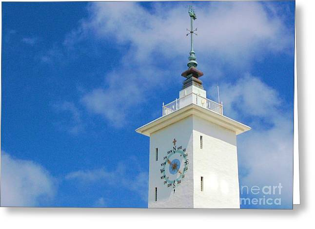 Weathervane Greeting Cards - All Along the Watchtower Greeting Card by Debbi Granruth