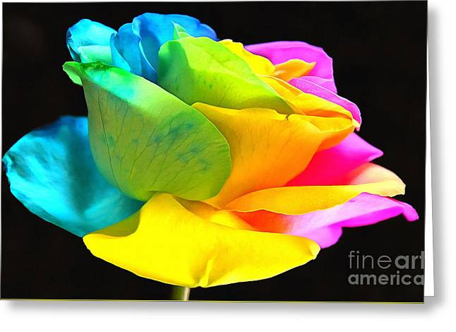 Rose Petals Mixed Media Greeting Cards - All For Love Greeting Card by Krissy Katsimbras