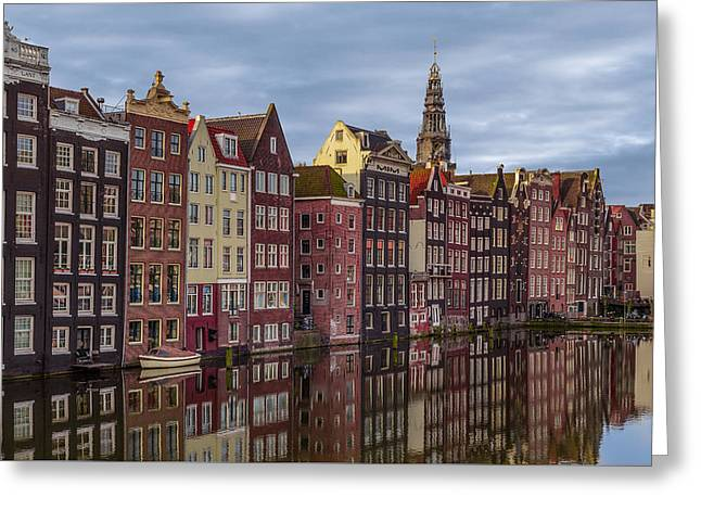 Famous Bridge Greeting Cards - All in a Row Greeting Card by Capt Gerry Hare