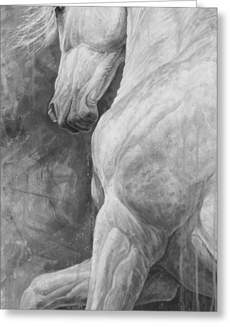 White Paintings Greeting Cards - Allegro Greeting Card by Silvana Gabudean
