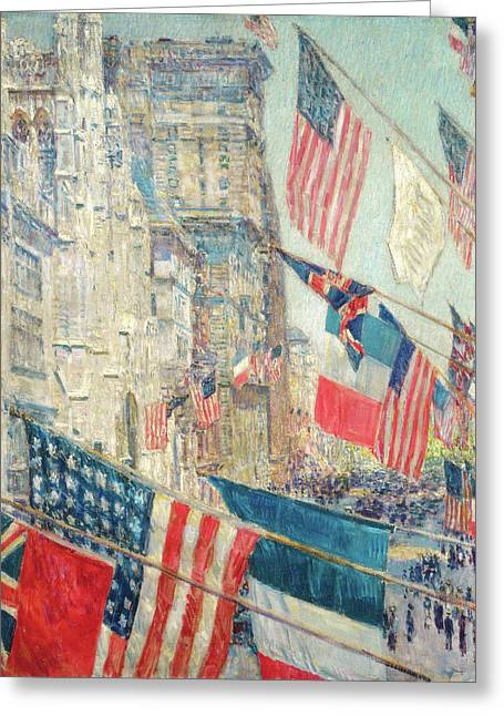 Allies Day - May 1917 Greeting Card by Childe Hassam