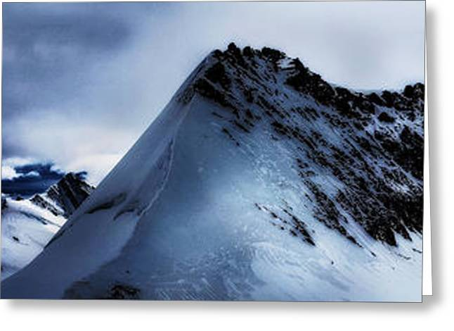Swiss Photographs Greeting Cards - Alpine Shadows Greeting Card by Claire Walsh