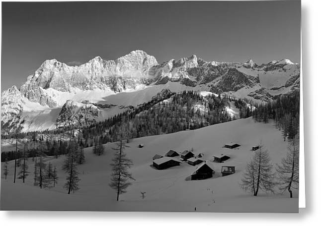 Wintry Greeting Cards - Alpine Winter Greeting Card by Franz Josef