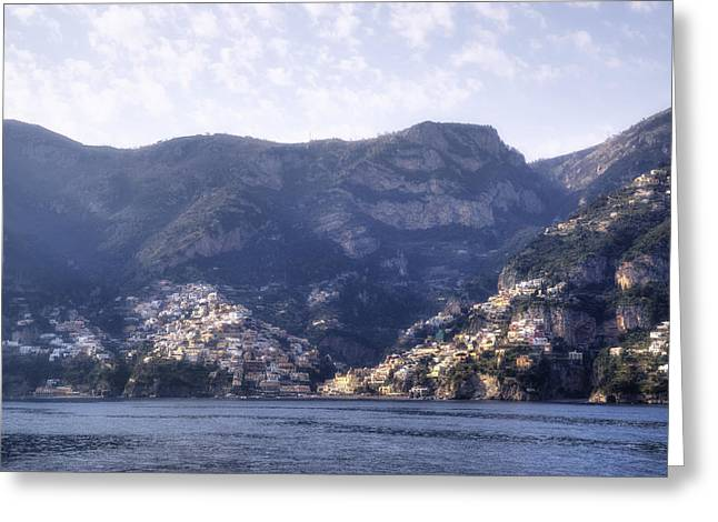 Positano Greeting Cards - Amalfi Coast Greeting Card by Joana Kruse