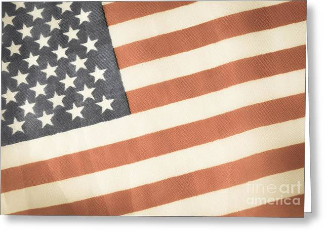 4th July Photographs Greeting Cards - American Flag Greeting Card by Andrea Anderegg