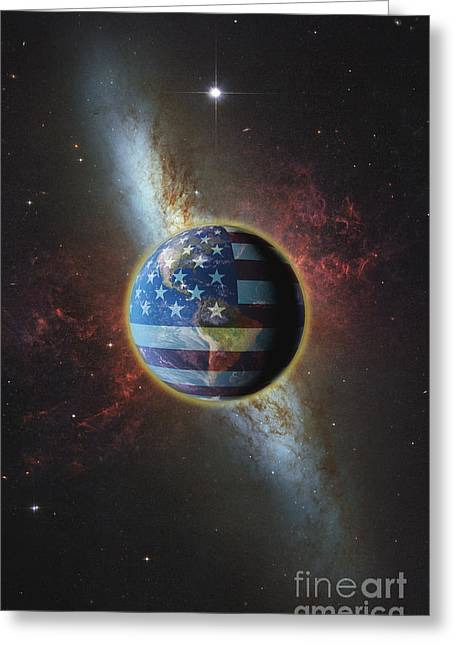 Political-economic Greeting Cards - American Influence Greeting Card by George Mattei