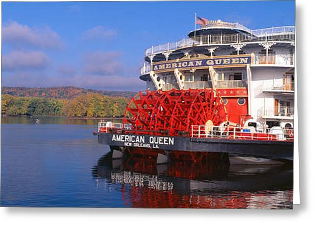 American Queen Paddlewheel Ship Greeting Card by Panoramic Images