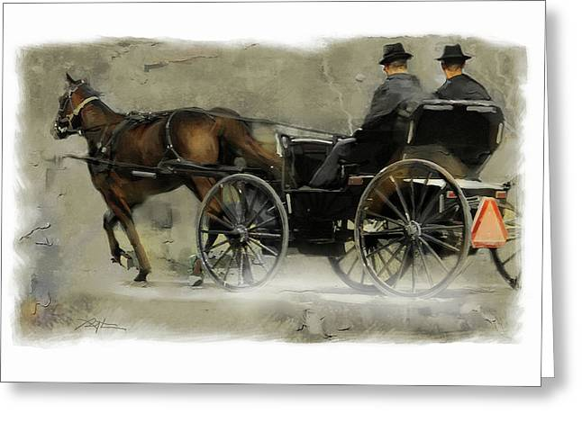 amish country Greeting Card by Bob Salo