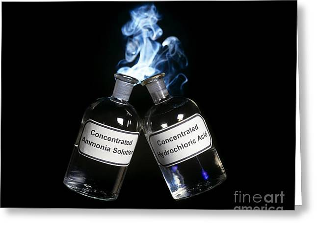 Experiment Greeting Cards - Ammonium Chloride Formation Greeting Card by Martyn F. Chillmaid