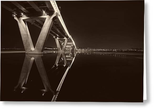 Seoul Greeting Cards - Amsa Bridge - Seoul Greeting Card by Youngho Lee