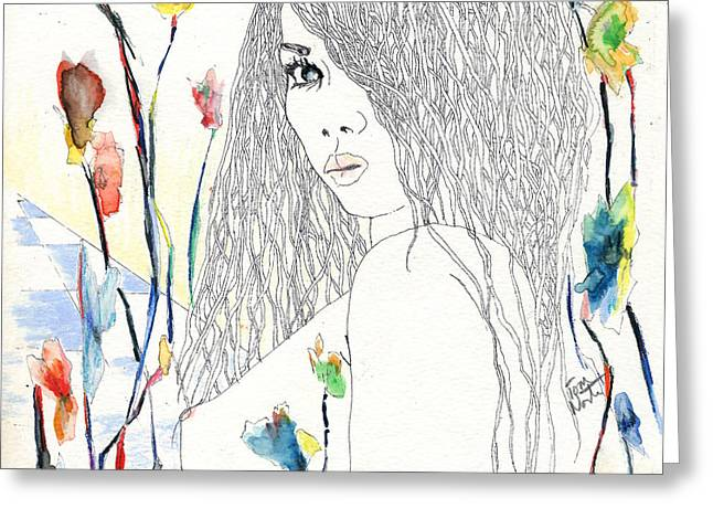 amy Greeting Card by Tom Norton