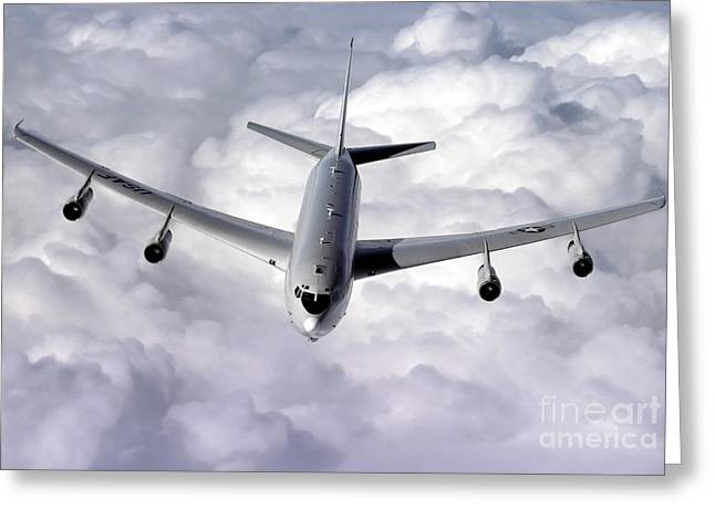 Radar Greeting Cards - An E-8c Joint Surveillance Target Greeting Card by Stocktrek Images