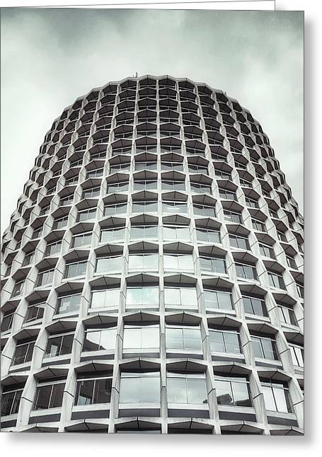 An Office Building Greeting Card by Tom Gowanlock