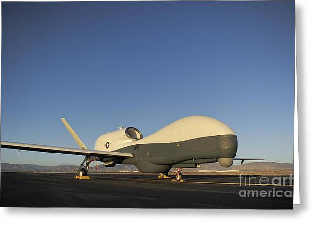 Global Hawk Greeting Cards - An Rq-4 Global Hawk Unmanned Aerial Greeting Card by Stocktrek Images