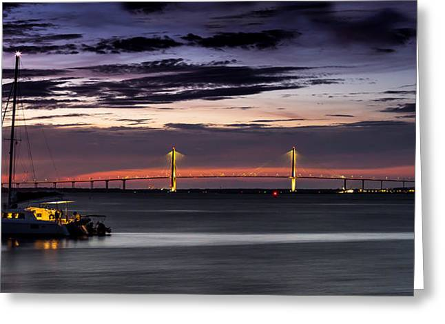 Sailboat Images Greeting Cards - Anchored in the Harbor - Charleston SC Greeting Card by Donnie Whitaker