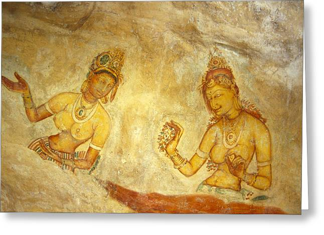 Bare Chested Greeting Cards - Ancient Cave Wall Paintings Depicting Greeting Card by Jason Edwards