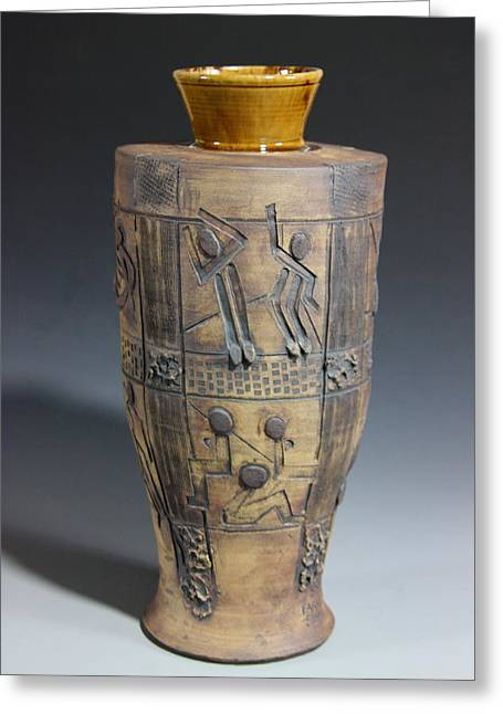 Ceramic Ceramics Greeting Cards - Ancient Windows Greeting Card by Dan Earle