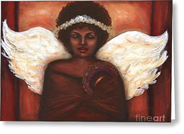 Angel Greeting Card by Alga Washington