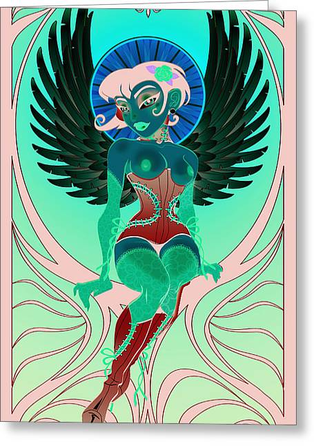 Corsets Greeting Cards - Angelique Greeting Card by Cristina McAllister