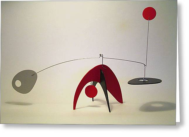 Table Sculptures Greeting Cards - Animo Stabile Greeting Card by Julie Frith