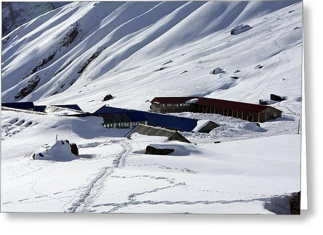 Annapurna South Base Camp Greeting Card by Aidan Moran