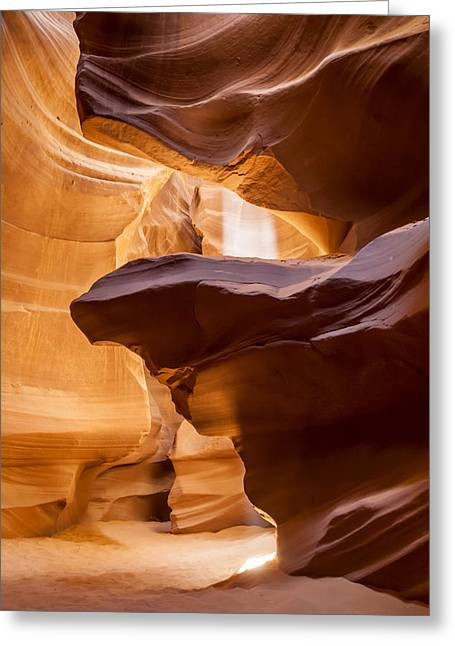 Spectacular Greeting Cards - Antelope Canyon Stone Layers Greeting Card by Melanie Viola