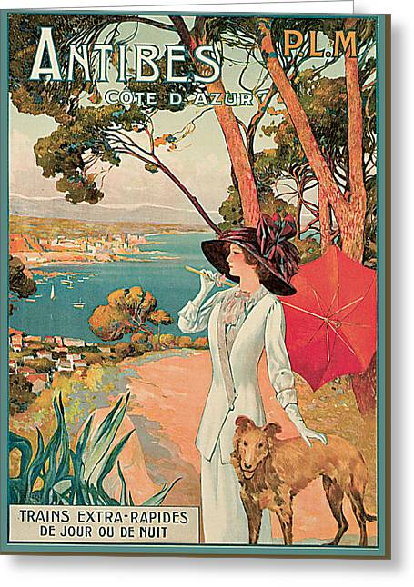 Antibes Greeting Cards - Antibes Greeting Card by David Dellepiane