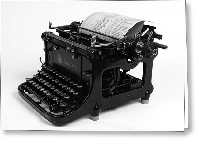 Typewriter Greeting Cards - Antique Continental Typewriter Greeting Card by Teresa Wilde