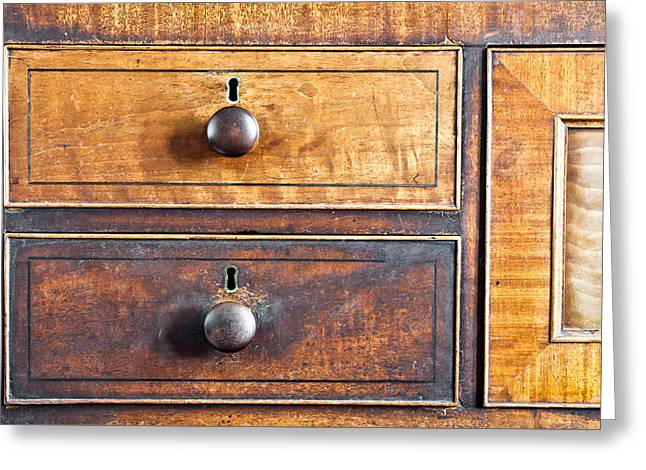 Compartments Greeting Cards - Antique furniture Greeting Card by Tom Gowanlock