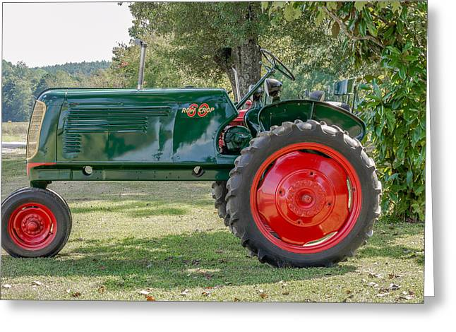 Oliver Row Crop Greeting Cards - Antique Tractor. Greeting Card by Rommel Stribling