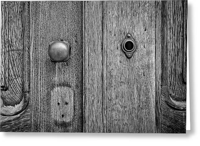 Old Door Greeting Cards - Antique Wooden Door Greeting Card by Pech Frantisek