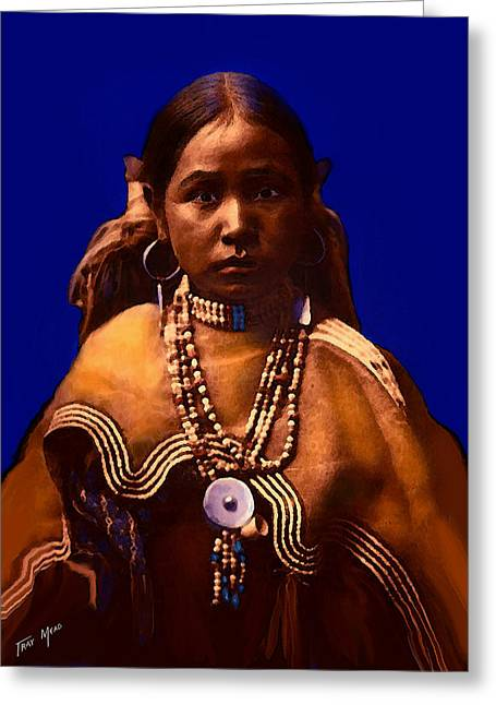 Tray Mead Greeting Cards - Apache Maiden Greeting Card by Tray Mead