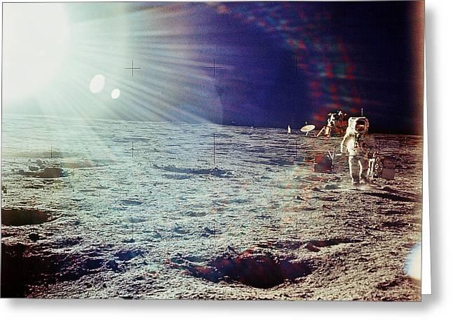 Apollo Program Greeting Cards - Apollo 12 Astronaut Greeting Card by Nasa
