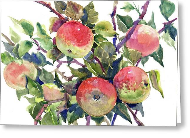 Apple Tree Greeting Card by Suren Nersisyan