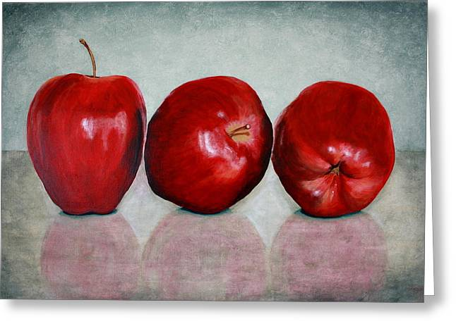 Apple Paintings Greeting Cards - Apples Greeting Card by Andrea Meyer