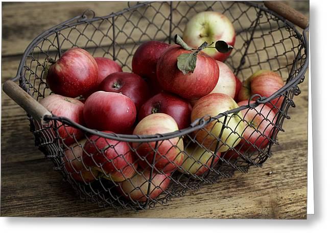 Apples Greeting Card by Nailia Schwarz