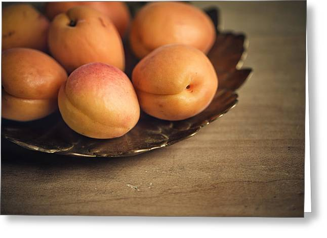 Apricots Greeting Card by Nailia Schwarz