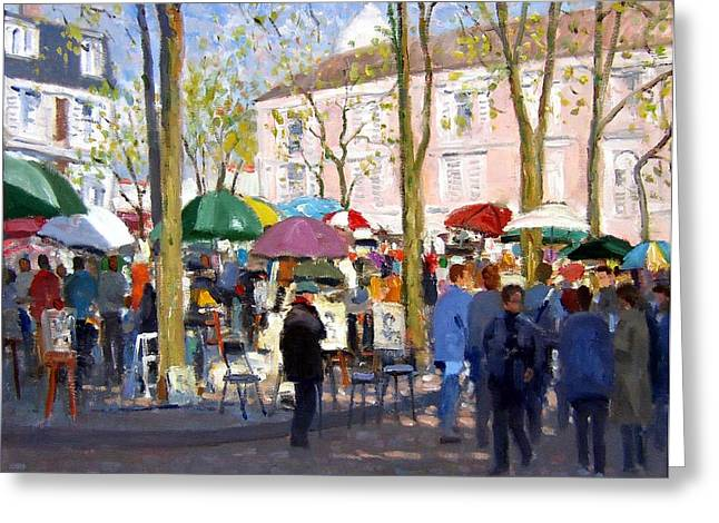 Roelof Rossouw Greeting Cards - April in Paris Greeting Card by Roelof Rossouw