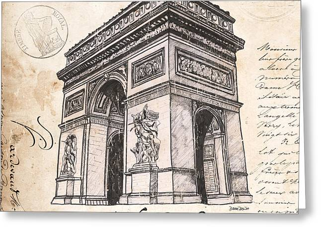 Arc De Triomphe Greeting Card by Debbie DeWitt