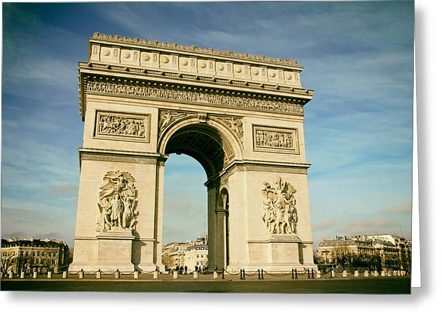 Skies Reliefs Greeting Cards - The Arc de Triomphe Greeting Card by Lilien